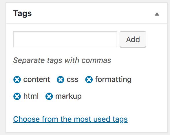 Wordpress etiketleri