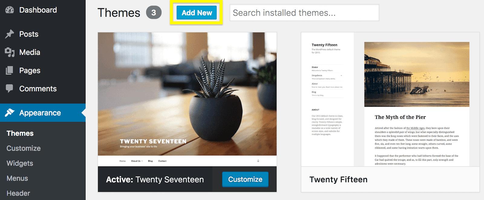 WordPress Teması Nasıl Yüklenir