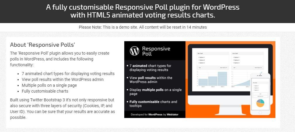 Duyarlı Anket WordPress anket eklentisi