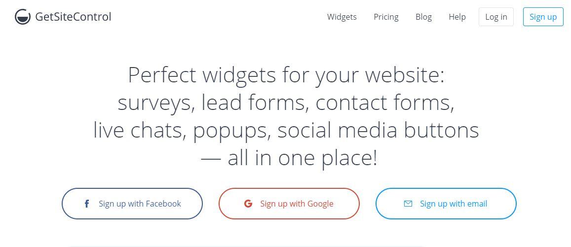 GetSiteControl WordPress anket eklentisi