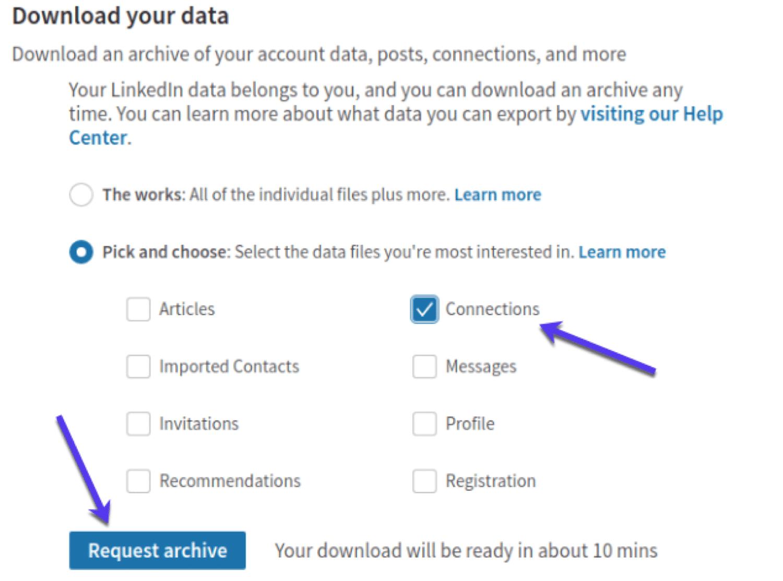 E-posta adresleri almak için LinkedIn verilerini kopyalayın