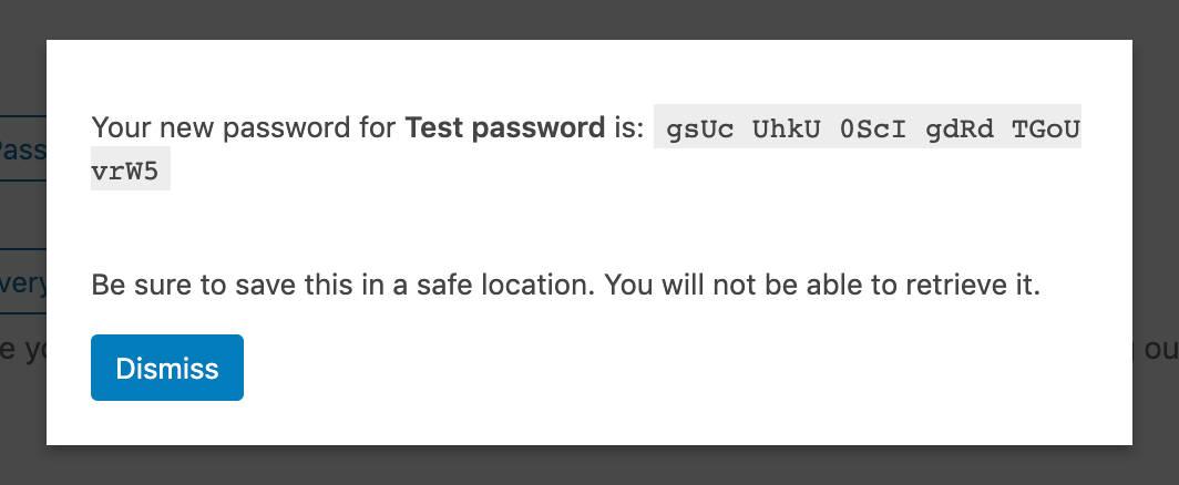 Yeni bir uygulama şifresi
