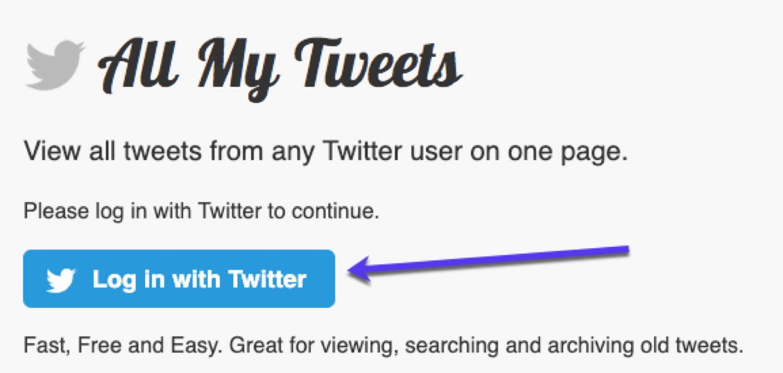 Tüm Tweetlerim aracılığıyla bir kullanıcının tüm tweet'lerini tek sayfada görüntüleyin