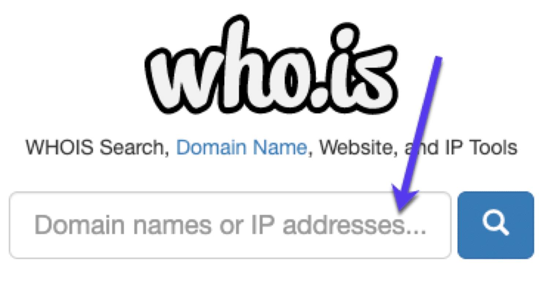E-posta adresi bulun: WHOIS araması