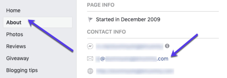 E-posta adresini bulun: Facebook'ta e-postaları bulun