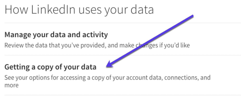 LinkedIn'den e-posta verilerini indirin