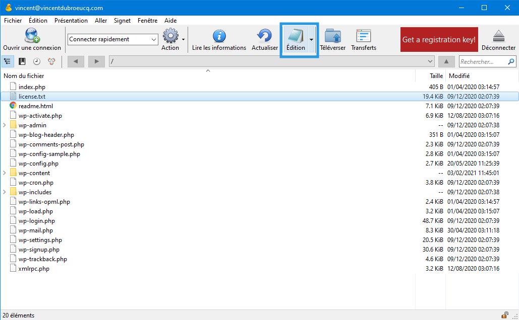 Cyberduck, dosya türünü algılar ve düzenleme için bir uygulama önerir.