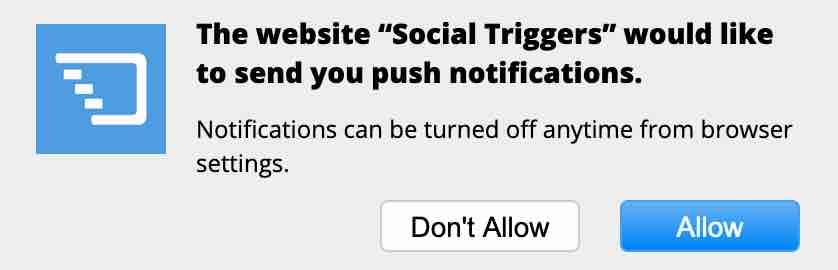 Sosyal Tetikleyiciler push bildirimi